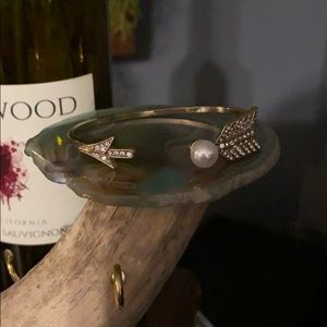 New in Box crystal arrow cuff bangle bracelet